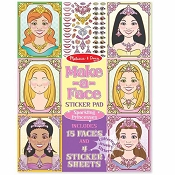 *Melissa & Doug Make-a-Face Sticker Pad - Sparkling Princesses