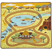 *Melissa & Doug Round the Savanna Safari Rug