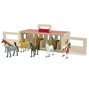 *Melissa & Doug Take-Along Show-Horse Stable Play Set