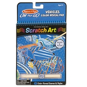 *Melissa & Doug  On the Go Scratch Art Color Reveal Pad - Vehicles