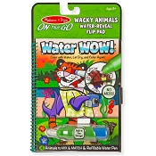 *Melissa & Doug Water Wow! Wacky Animals Water Reveal Flip Pad - On the Go Travel Activity