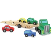 *Melissa & Doug Car Carrier Truck & Cars Wooden Toy Set