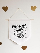 *Little & Lively Canvas Banner - Mermaid Hair & Salty Air