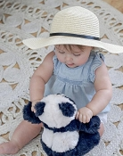 *Mini Bretzel Straw Hat