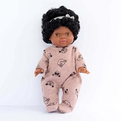 *Minikane / Paola Reina Doll Clothing - Teddy Bear Pajamas and Headband