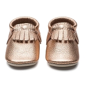 Minimoc Rose Gold Moccasins *CLEARANCE*