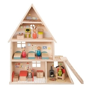 *Moulin Roty Grand Famille Doll House with Furniture