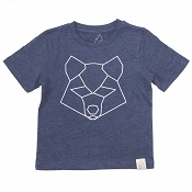 Acorn & Leaf Navy Wolf T-Shirt *CLEARANCE*