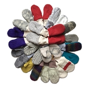 Nooks Design Kids' Upcycled Wool Mittens - Gender Neutral Colours