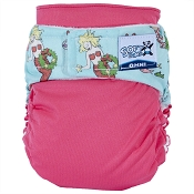 SoftBums Echo One-Size Cloth Diaper Shell - Velcro - Merry Mermaid *clearance- no warranty*