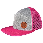 L&P Trucker Style Hat - Orleans (Grey & Pink)