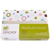 OsoCozy Better Fit Unbleached Cotton Prefold - 6-Pack