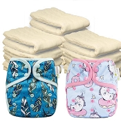 OsoCozy One Size Cloth Diaper Starter Kit
