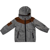 L&P Apparel Lined Outerwear Jacket - Grey & Caramel