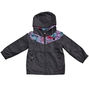 L&P Apparel Lined Outerwear Jacket - Grey Floral
