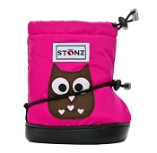 Stonz Booties - Toddler (X-Large Fuchsia Owl) *CLEARANCE*