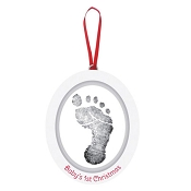 *Pearhead Wooden Oval Babyprints Photo Ornament