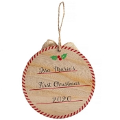 *Pearhead My First Christmas Ornament - Wooden Babyprints