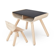 *Plan Toys Table & Chair - Black