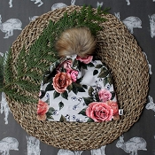 Little & Lively Pom Pom Beanie - Antique Floral