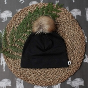 Little & Lively Pom Pom Beanie - Black
