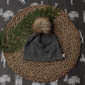 Little & Lively Pom Pom Beanie - Charcoal