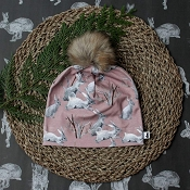 Little & Lively Pom Pom Beanie - Cottontail *CLEARANCE*