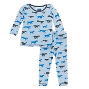 KicKee Pants Long Sleeve Pajama Set - Pond Running Labs