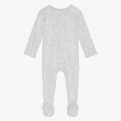 Posh Peanut Footie Snap One Piece - Athletic Grey Heather