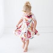 Posh Peanut Autumn Floral Twirl Dress