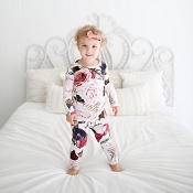 Posh Peanut Black Rose Pajamas