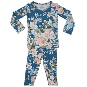 Posh Peanut Blue Rose Pajamas