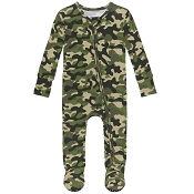 Posh Peanut Footie Zippered One Piece - Cadet