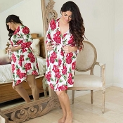 *Posh Peanut Dolce Red Rose Mommy Robe