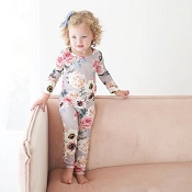 Posh Peanut French Grey Floral Pajamas