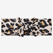 *Posh Peanut Head Wrap - Lana Leopard Tan