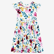 Posh Peanut Jozie Short Sleeve Twirl Dress
