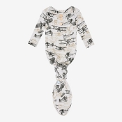 Posh Peanut Wright Flyer Button Knotted Gown - 0-3 Months