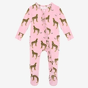 Posh Peanut Ruffled Zippered Footie - Mara