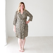 *Posh Peanut Lana Leopard Tan Mommy Robe