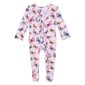 Posh Peanut Footie Ruffled Zippered One Piece - Nora