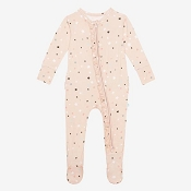 Posh Peanut Ruffled Zippered Footie - Star