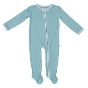 Posh Peanut Zippered Footie - Teal (Size 12-18 Months)