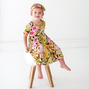 Posh Peanut Tuscan Yellow Twirl Dress