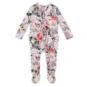 Posh Peanut Ruffled Zippered Footie - Cassie *Pre-Order*