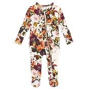 Posh Peanut Ruffled Zippered Footie - Corinne (Size 6-9 Months)