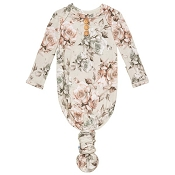 Posh Peanut Wood Button Knotted Gown - Daniella (Size 0-3 Months)