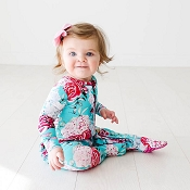 Posh Peanut Ruffled Zippered Footie - Eloise