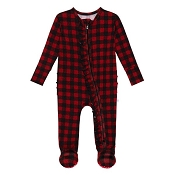 Posh Peanut Ruffled Zippered Footie - Grayson (Size 18-24 Months)