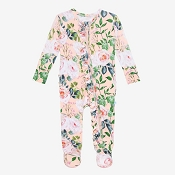 Posh Peanut Footie Ruffled Zippered One Piece - Harper